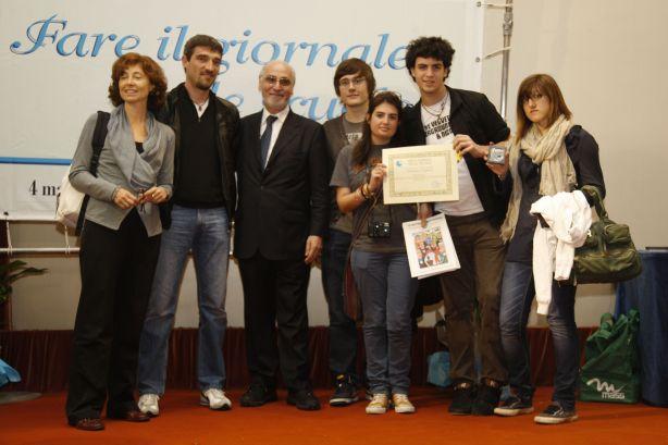 La nostra delegazione al ritiro del premio - Edizione 2011
