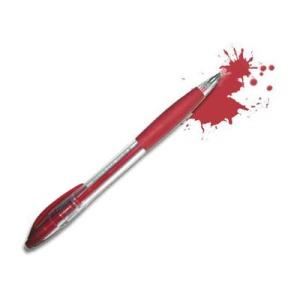 Con la biro rossa in mano